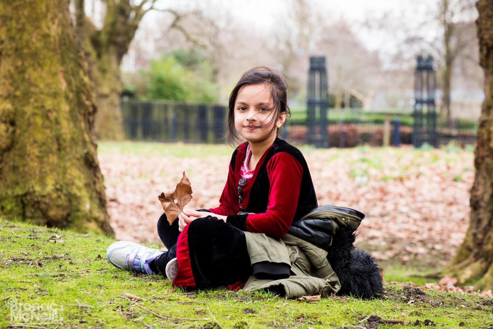 child sitting down