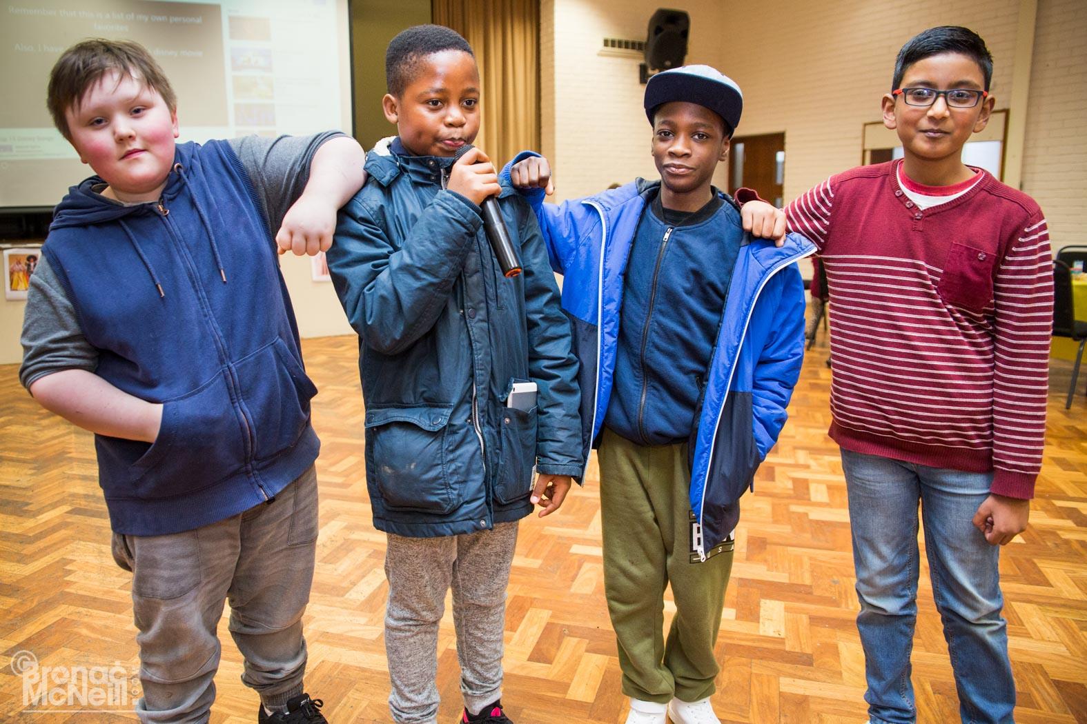4 children standing up