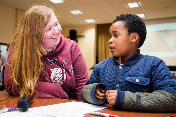 Young carer and support worker