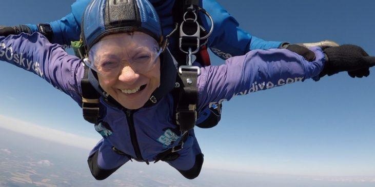 Lesley Blount on her skydive